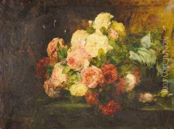 Roses Oil Painting - Georges Jeannin