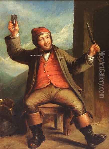 The Cup That Cheers Oil Painting - William Kidd