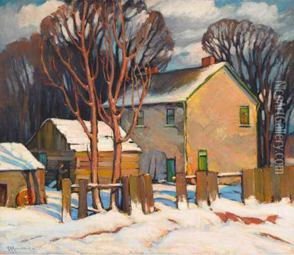Winter Oil Painting - George Arthur Kulmala
