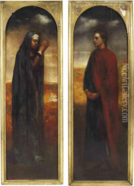 The Virgin And St. John The Evangelist At The Foot Of The Cross Oil Painting - John La Farge