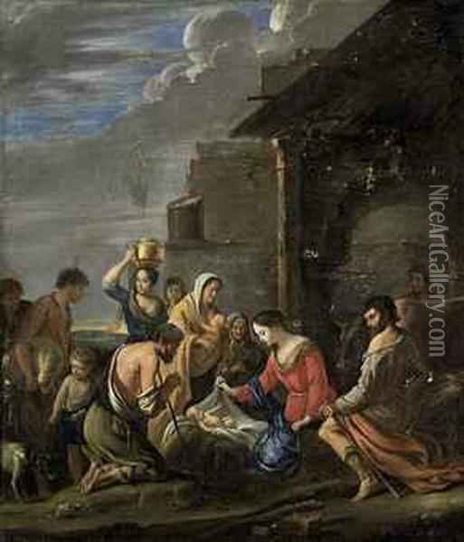 The Adoration Of The Shepherds Oil Painting - Mathieu Le Nain
