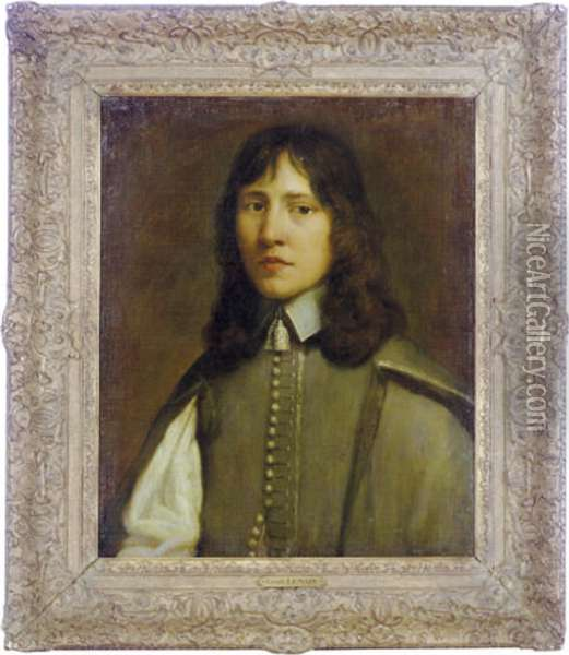 Portrait Of A Young Man Oil Painting - Mathieu Le Nain