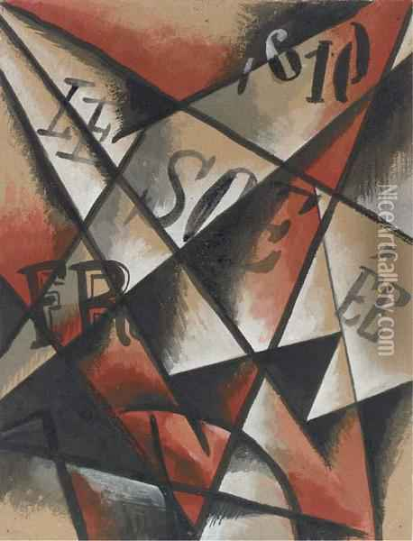 Untitled Oil Painting - Lyubov Popova