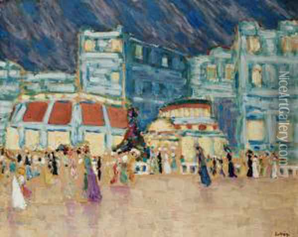 Motif From Dieppe Oil Painting - Konrad Magi