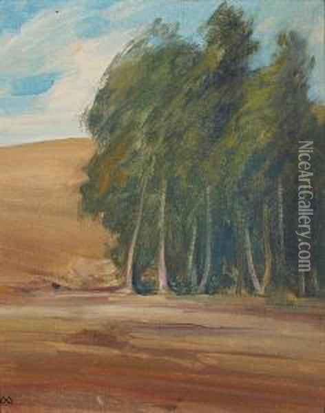 A Grove Of Windswept Trees Oil Painting - Xavier Martinez