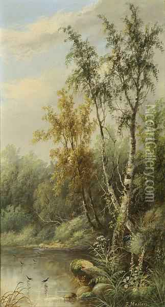 Uferlandschaft Oil Painting - Masters Edward