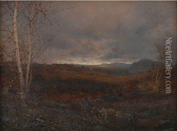 Gray Day In Hill Country Oil Painting - Jervis McEntee
