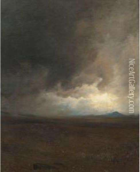 Storm Clouds Oil Painting - Jervis McEntee