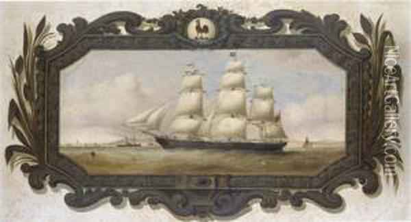 A Belfast Colonial Clipper, Possibly The Slieve Donard, Approaching Liverpool Oil Painting - Duncan Mcfarlane