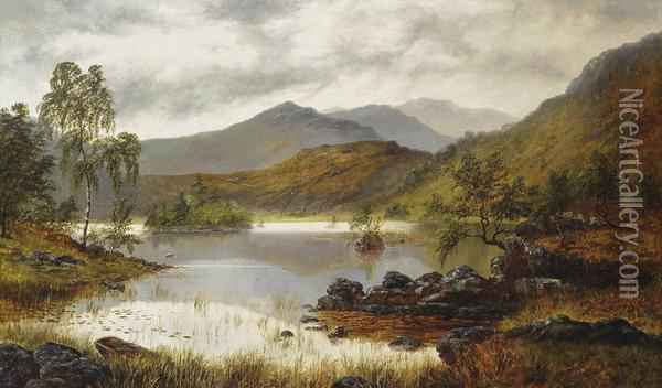 Rydal Lake Oil Painting - William Mellor