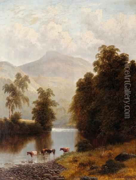 Near Bolton Abbey, Yorkshire, England Oil Painting - William Mellor
