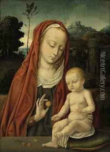 The Virgin And Child Oil Painting - Hans Memling