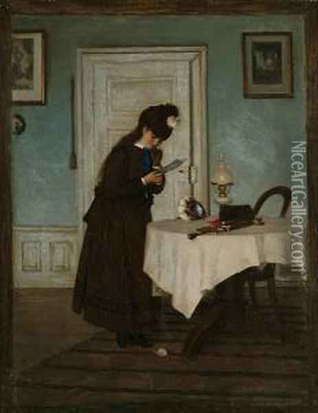 The Letter Oil Painting - Paul Meyer-Mainz