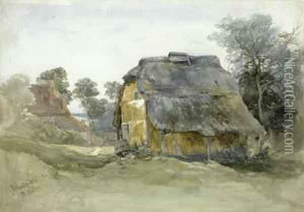 A Barn At Tunbridge Wells, Kent Oil Painting - John Middleton