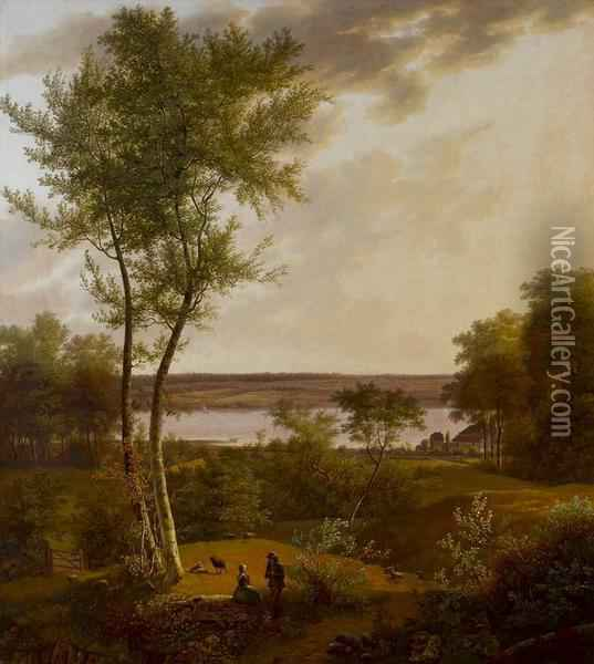 Danische Landschaft In Jutland Oil Painting - Jens Peter Moeller