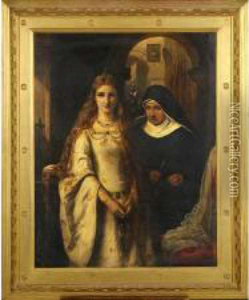 Il Trovatore Oil Painting - Felix Stone Moscheles