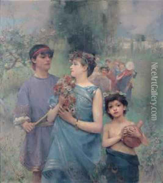 Le Printemps Oil Painting - Henry Siddons Mowbray