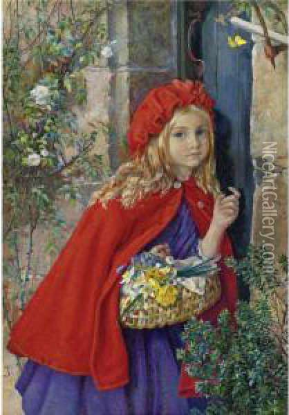 Little Red Riding Hood Oil Painting - Isabel Oakley Naftel