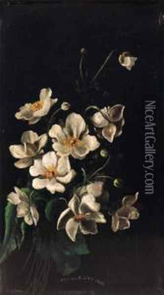 Floral Still Life Oil Painting - Charles Christian Nahl