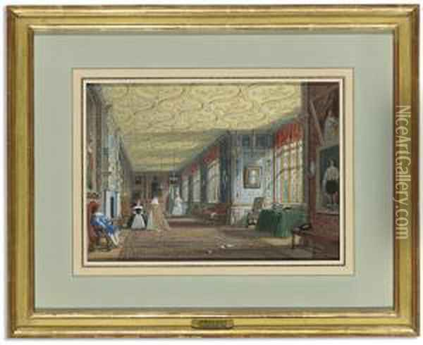 The Cartoon Gallery, Knole, Kent Oil Painting - Joseph Nash