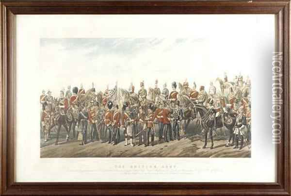 The British Army; The Royal Navy Oil Painting - Orlando Norie