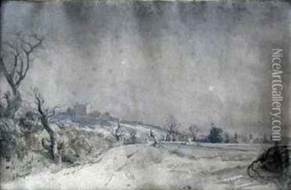 View Of Dover From Folkestone Road Oil Painting - William, Dover Of Burgess
