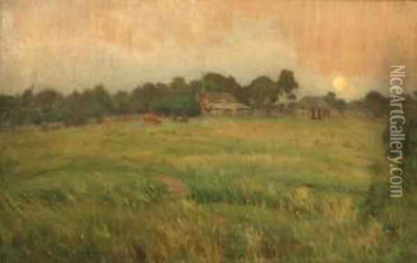 Chartrevilles Farm Oil Painting - Edward Officer