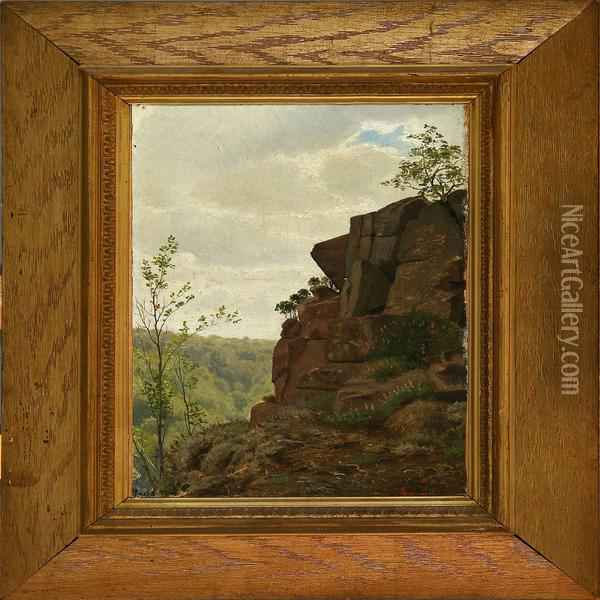 View From A Cliff Overthe Woods Oil Painting - Vilhelm Pacht