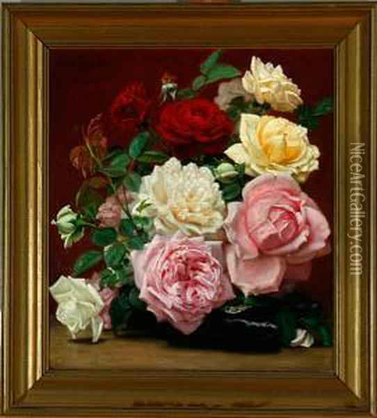 Wedding Bouquet Oil Painting - Vilhelm Pacht