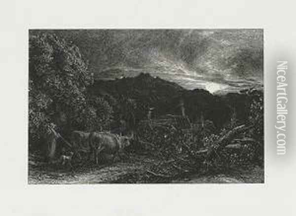 The Weary Ploughman ((lister 8 Viii) Oil Painting - Samuel Palmer