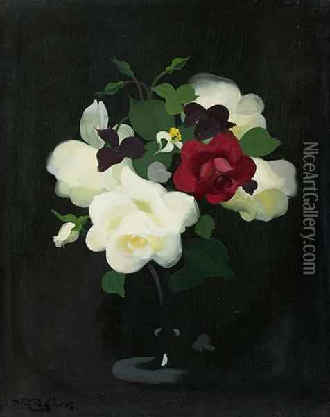 Roses Oil Painting - James Stuart Park