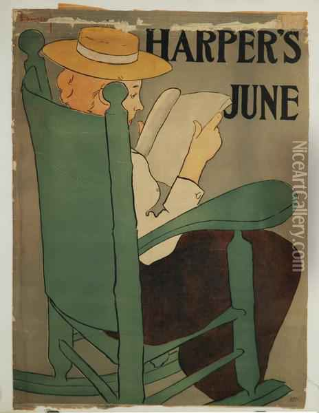 Affiche Per Harper's New Monthly Magazine, New York Oil Painting - Edward Penfield