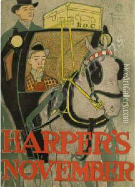 Harper's Oil Painting - Edward Penfield