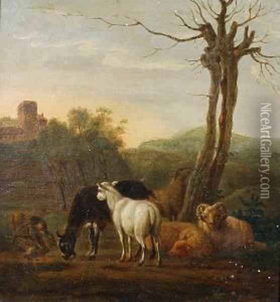 The Young Goatherd Oil Painting - Johann Georg Pforr