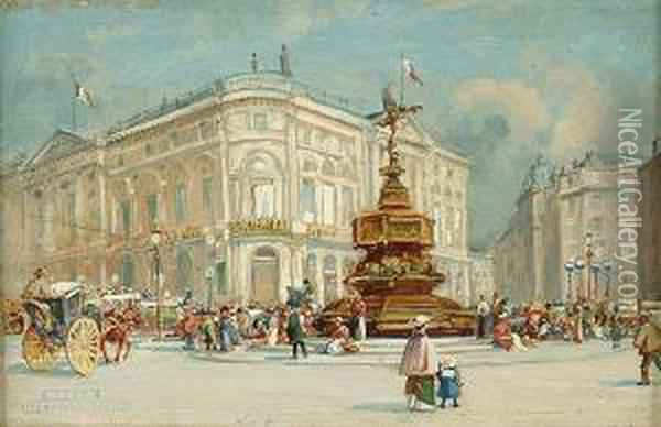 Picadilly Circus, London Oil Painting - Charles Gustav Louis Phillips