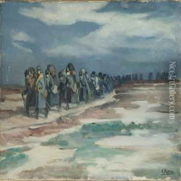 Soldiers Onmarch Oil Painting - Gustave Rene Pierre