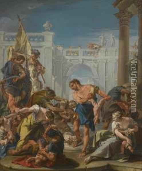 The Massacre Of The Innocents Oil Painting - Sebastiano Ricci