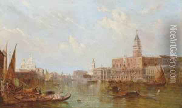 The Ducal Palace, Venice Oil Painting - Alfred Pollentine