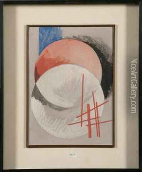 Composition Abstraite Oil Painting - Lyubov Popova