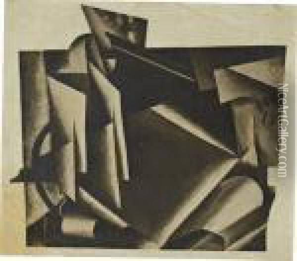 Photomontage Of A Painting Oil Painting - Lyubov Popova