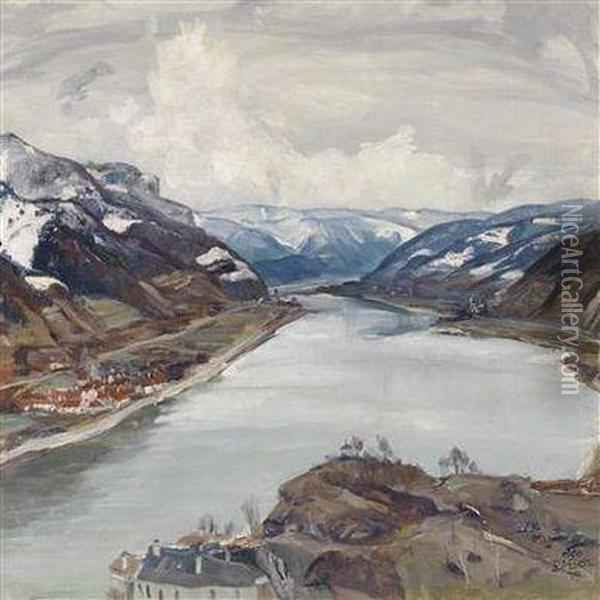 Landscape In Early Spring Oil Painting - Igo Potsch