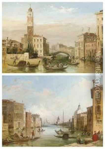 The Grand Canal Oil Painting - Edward Pritchett