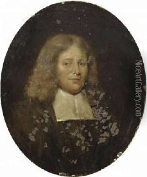 Portrait Of A Gentleman Oil Painting - Jan Maurits Quinkhard