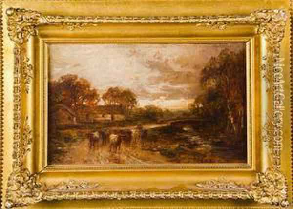 Landscapes On The Lethnot Oil Painting - Allan Ii Ramsay