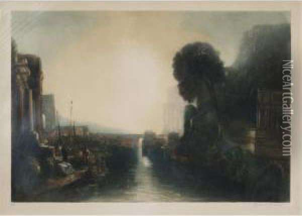 Dido Building Carthage Oil Painting - Richard Ranft