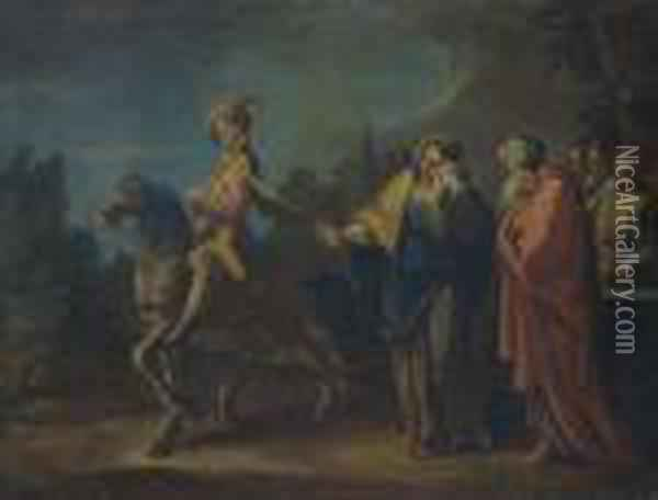 The Prodigal Son Leaves Home Oil Painting - Sebastiano Ricci