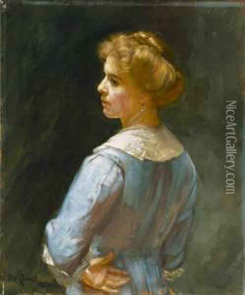 Ada Bancroft Oil Painting - Thomas William Roberts