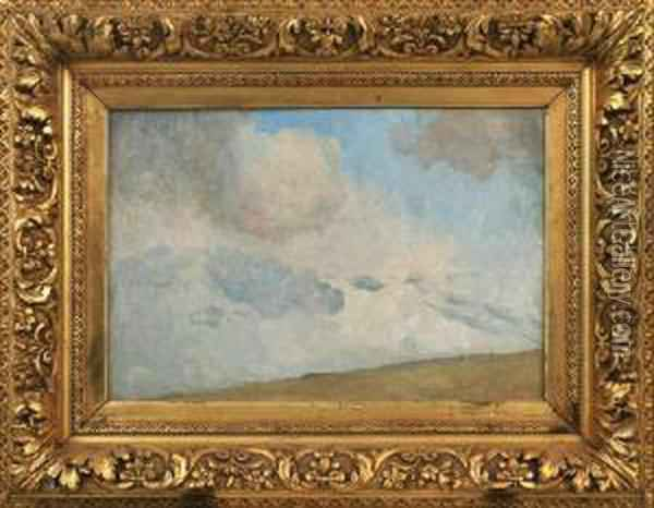 Cloud Study Oil Painting - Tom Roberts