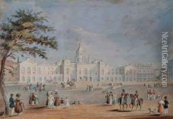 Horse Guards Oil Painting - Thomas Hosmer Shepherd
