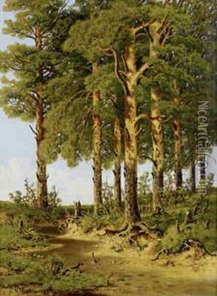 The Forest Clearing Oil Painting - Ivan Shishkin